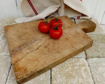 Old French cutting board big authentic vintage chopping board butchers board serving platter French kitchenalia rustic planche a decouper