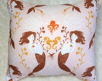 Mendocino Mermaid Pillow - 11x11