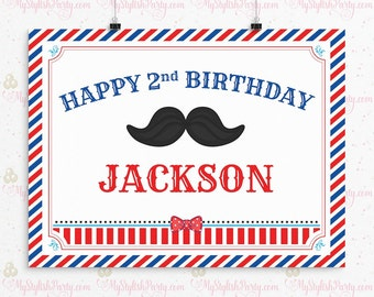 Little Man Birthday Backdrop or Poster - Mustache Birthday Backdrop - Mustache Bash Birthday Backdrop or Poster - Mustache Backdrop