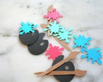 Paint Party Decorations - Confetti - Art Party Confetti