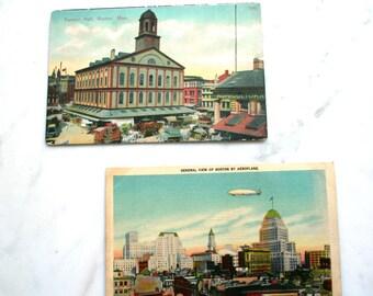 Boston Home Decor - Vintage Postcards - Unique Ephemera
