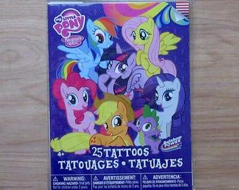 My Little Pony Friendship Is Magic Tattoos~Set of 25 Tattoos~Rainbow Dash~Princess Celestia~Pinky Pie~Spike~Sweetie Belle