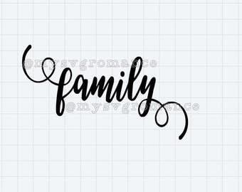 Family SVG - PNG - Fancy Font
