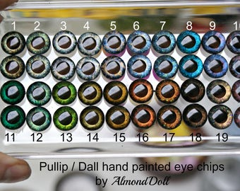 Ooak Pullip, Dal, Taeyang hand painted eye chips  by AlmondDoll