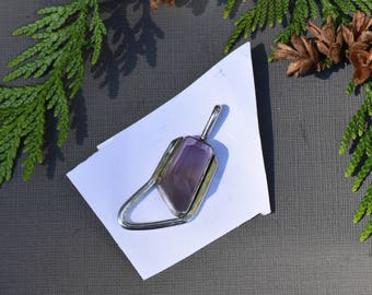 Amethyst   Sterling Silver   Free Form Faceted   Gemstone Pendant