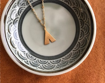 TeePee Gold Plated Dainty Necklace - Southern Bohemian Gold Short Necklace - Simple Cowgirl Necklace in Gold