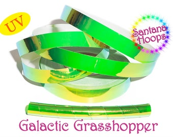 UV Galactic Grasshopper Color shifting Morph Taped Performance Hula Hoop Polypro or HDPE