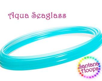 "5/8"" Translucent Aqua Seaglass Polypro Hula Hoop"