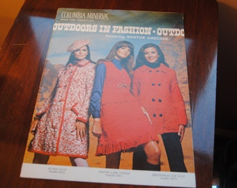 Vintage Knitting Direction Pattern Books 1960's Sweaters/Outdoor Fashions/Columbia Minerva Pattern/1968