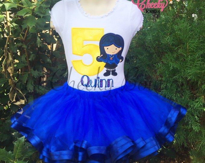 Evie Disney Descendants Tutu Outfit - Disney Vacation - Birthday Tutu - Smash Cake Outfit - Disney Princess Birthday - 1st Disney