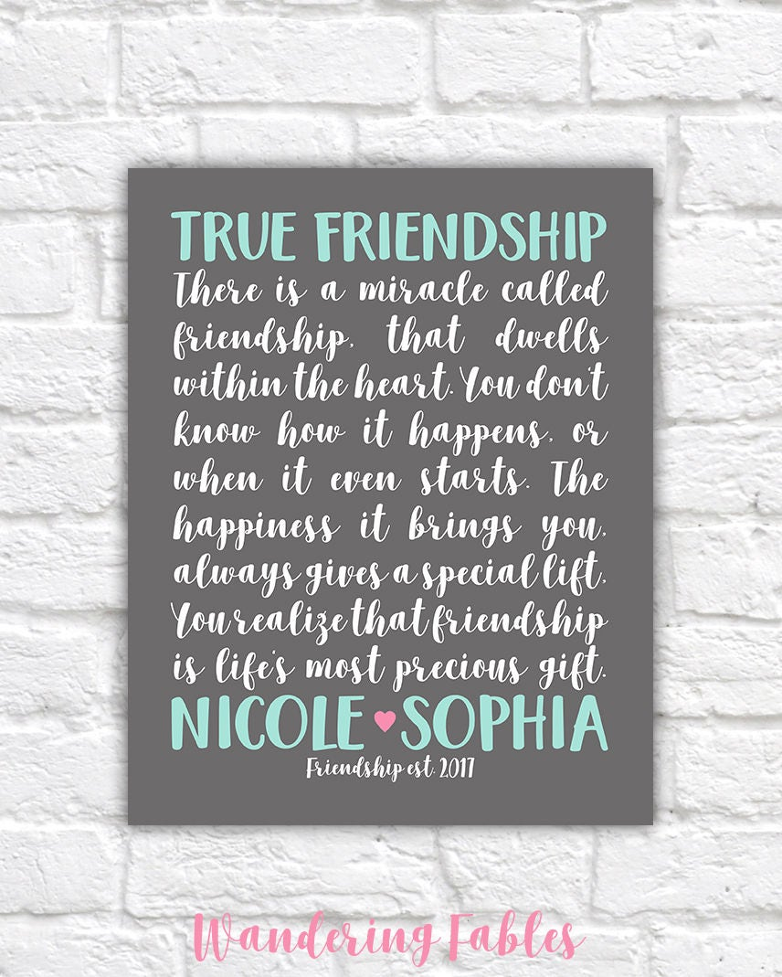 Gifts For Best Friend, Friendship Poem Custom, Bff, Gift. Xanadu Movie Quotes. Christian Quotes Comfort. Fashion Quotes Images. Motivational Quotes Good Day. Family Quotes Pinterest. Movie Quotes Kiss. Work Smart Quotes. Humor Quotes On Pinterest