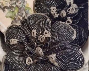Vintage Beaded Flowers