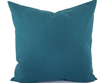 Solid Teal Decorative Pillow Cover - Teal Blue Pillow Cover - Linen Pillow Cover - Solid Turquoise Pillow - Custom Pillows - Teal Pillow