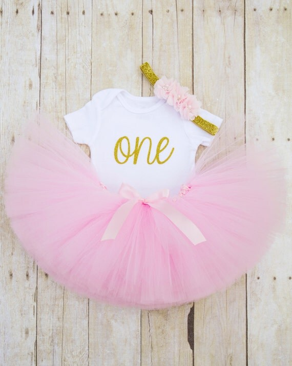 Pink And Gold Birthday Girl Outfitrst Birthday Girl Outfit
