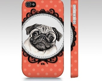 Pug mobile case, pug dog case, dog mobile case, pug tough iPhone case, pug Samsung Galaxy case, pet device case, pug iPhone, pug tough case