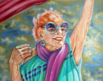 Scarf Queen - Digital Download of Portrait of a Vibrant Fashionista
