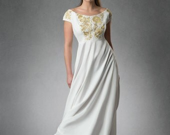 Estyn- Embroidered Wedding Dress