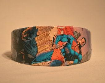 Batman and Superman Comic Book Headband