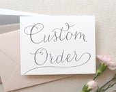 Custom Listing for Rina - 40 envelope liners and guest address printing