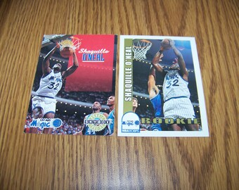 2 Shaquille O'neal (Orlando Magic) Rookie Cards (Skybox + NBA Hoops)