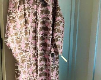 NOS Vintage mod pink dress Sears deadstock MINT L XL
