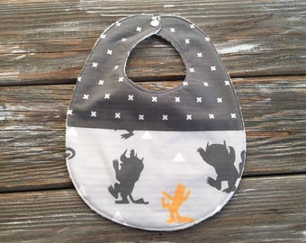 Bib ~ Two Toned/Quilted ~ Tribal//Mustard//Wild//Rustic//Where the Wild Things Are