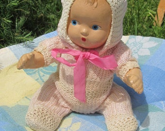 Composition baby doll;  1940's with original clothing
