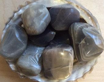Black Moonstone Large Healing Stone, Healing Crystal, Spiritual Stone, Meditation, Tumbled stone, Chakra Stone