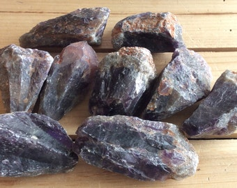 Dark Amethyst Raw Natural Stones, Healing Crystal, Healing Stone, Spiritual Stone, Chakra Stone