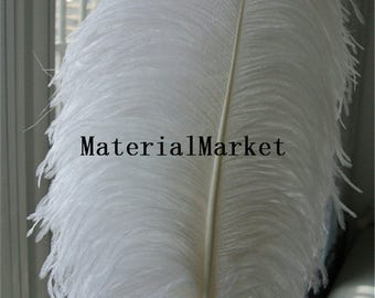 60-70cm perfect white Ostrich feathers plumes for Wedding Centerpiece wedding Decor costumes