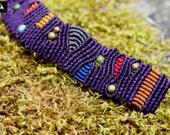 Purple Macrame Bracelet, ...