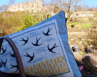 "Cushion ""Swallows"" cross-stitch 50 x 60 cm"