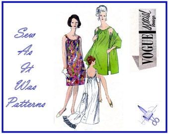 "1960s Vogue Special Design 6821 Evening Cocktail A-Line Dress Gathered Neckline Open Back Vintage Sewing Pattern Stole Size 16 Bust 36"" 92cm"