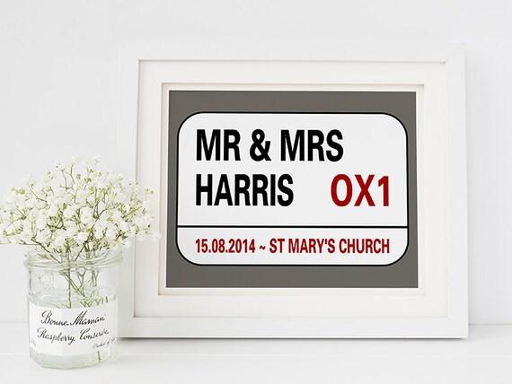 Wedding Gifts London: Personalised Wedding Gift London Street Sign Street Sign