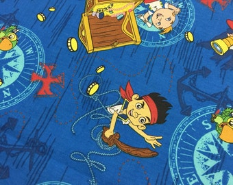 FABRIC  1+ 2/3 yd jake and the neverland pirates