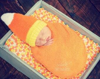 Candy Corn Baby Hat • Candy Corn Hat • Candy Corn Newborn Photo Prop • Halloween Baby Hat • Halloween Newborn Hat • Halloween Baby Gift