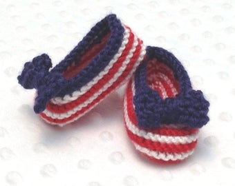 4th of July Baby Booties • 4th of July Pregnancy Announcement • 4th of July Gender Reveal Prop • USA Baby Booties • Baby Shower Gift