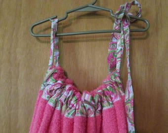 Terry towel swimsuit cover up