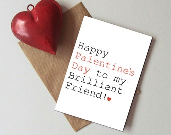 Friend valentine  Etsy