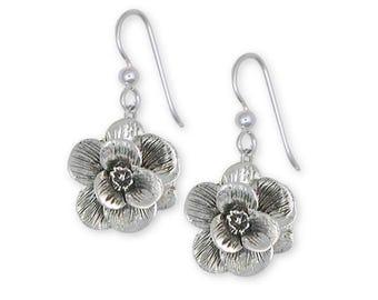 Magnolia Earrings Jewelry Sterling Silver Handmade Flower Earrings MG2-E