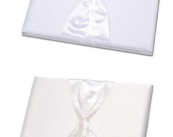 Guest Book - Ready to Decorate or Accessorize - Ivory or White Color Choice