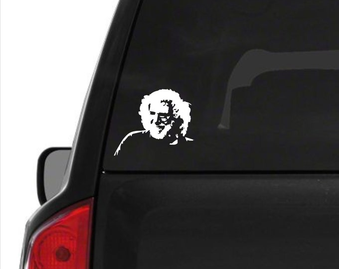 Jerry Garcia vinyl decal, Jerry Garcia vinyl sticker, Jerry Garcia, Jerry decal, Jerry sticker, The Dead decal, Garcia vinyl decal, Garcia