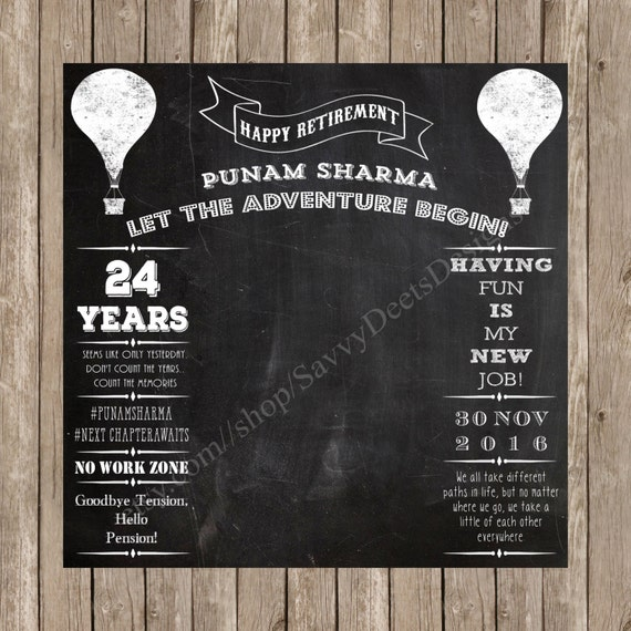 Retirement Party Photo Backdrop Printable - Chalkbaord Retirment Photo Backdrop - Retirment Photo Backdrop - Retirement Party - Printable