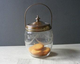 Antique French Biscuit Barrel,Cookie Jar.