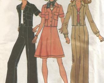 6812 Simplicity Sewing Pattern Unlined Jacket Skirt Pants UNCUT Size 14 36B Vintage 1970s