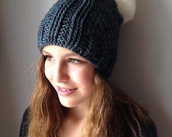 Léa - Crochet Hat Pattern - Unisex DK Hat Crochet Pattern - Pom Pom Winter Hat Crochet Pattern - One Skein Crochet Hat Pattern