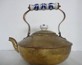 Vintage Brass Plated Tea Pot
