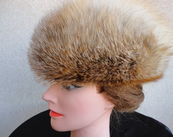 Vintage Fox Fur Hat