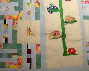 A Machine Embroidered  Quillow
