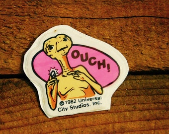 Vintage 80s E.T Ouch Puffy Sticker